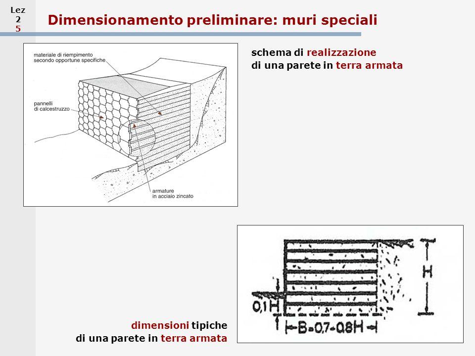 Dimensionamento preliminare: muri speciali