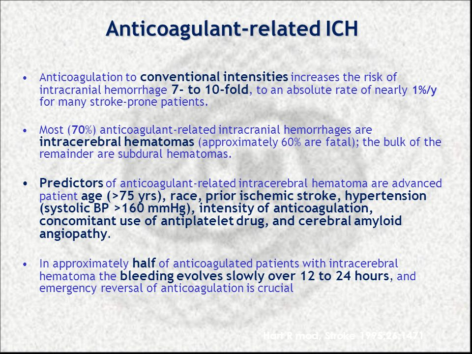 Anticoagulant-related ICH
