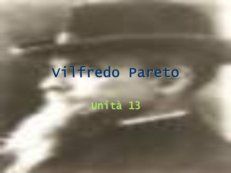 Vilfredo Pareto Unità 13