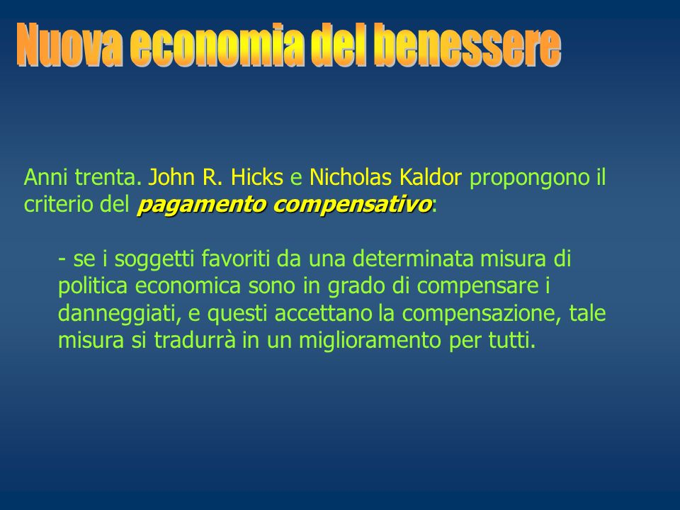 Nuova economia del benessere