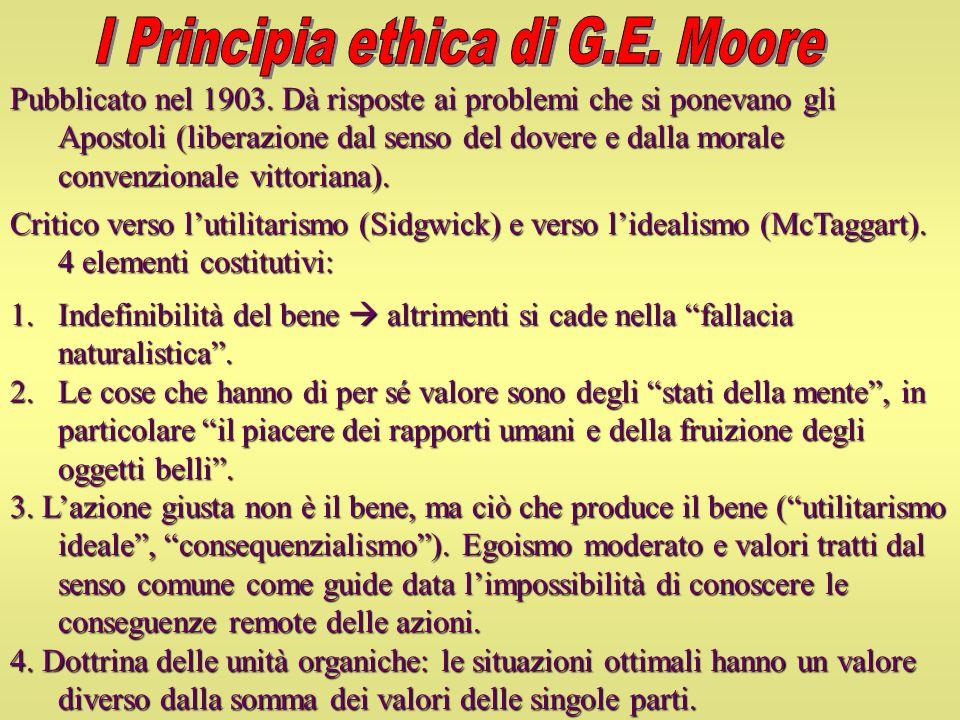 I Principia ethica di G.E. Moore
