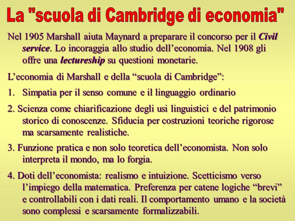 La scuola di Cambridge di economia