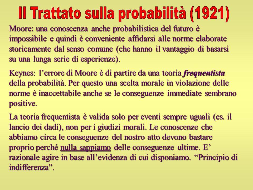 Il Trattato sulla probabilità (1921)