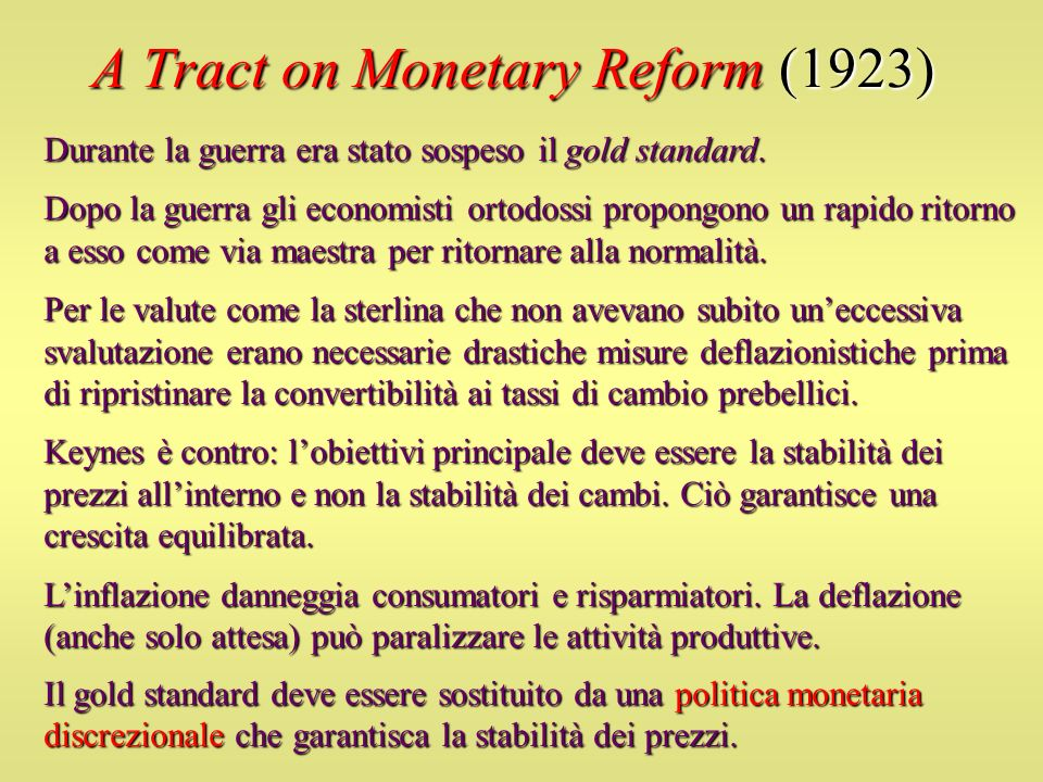 A Tract on Monetary Reform (1923)