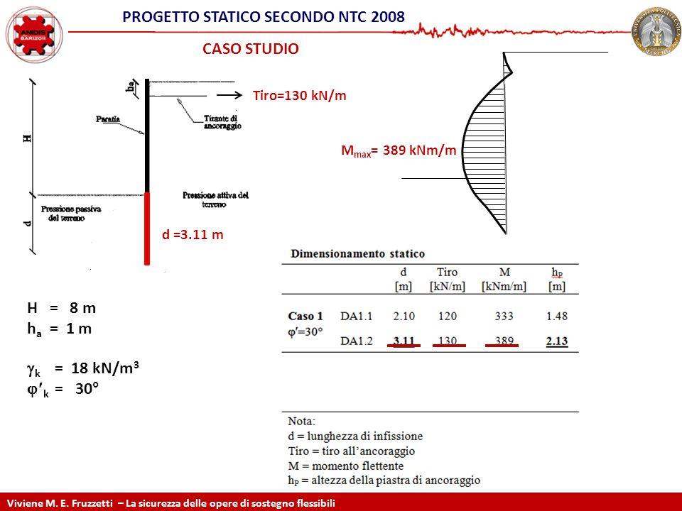 PRoGETTO STATICO SECONDO NTC 2008 Static design according EC7