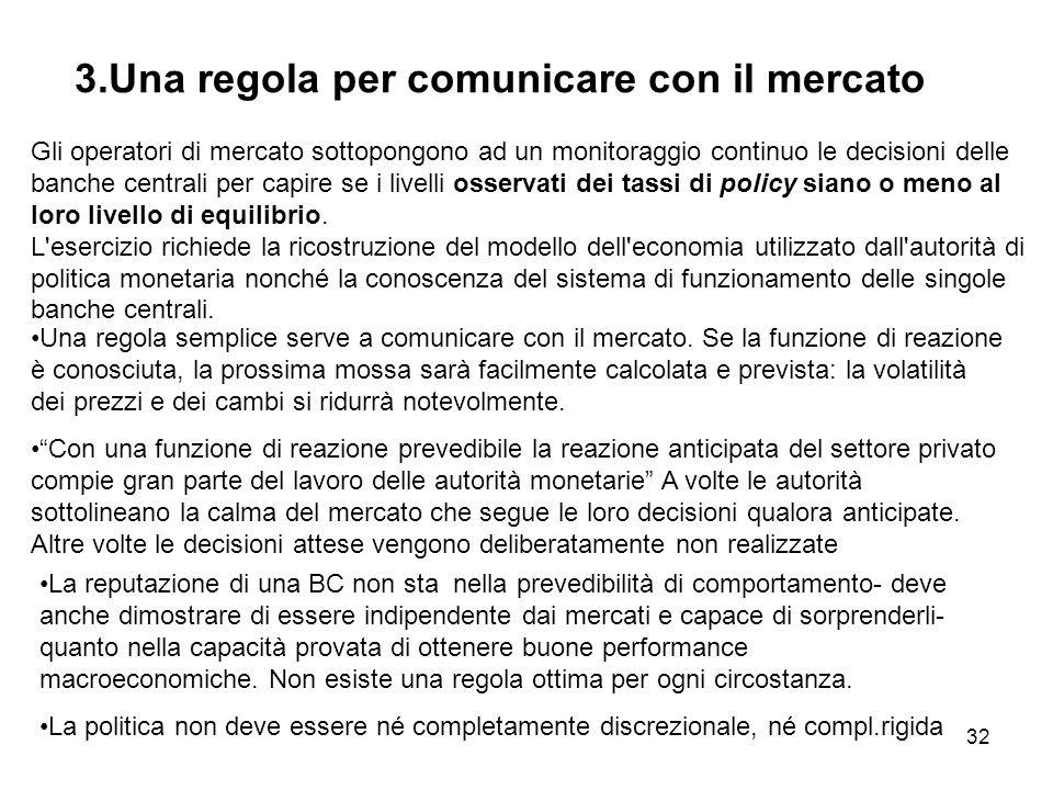 3.Una regola per comunicare con il mercato
