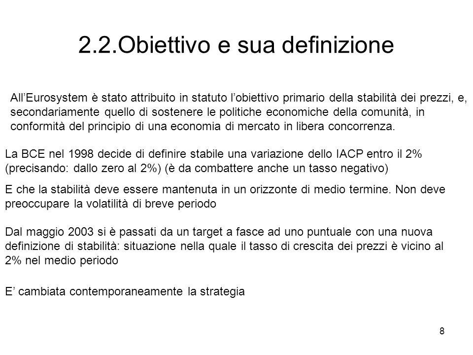 2.2.Obiettivo e sua definizione