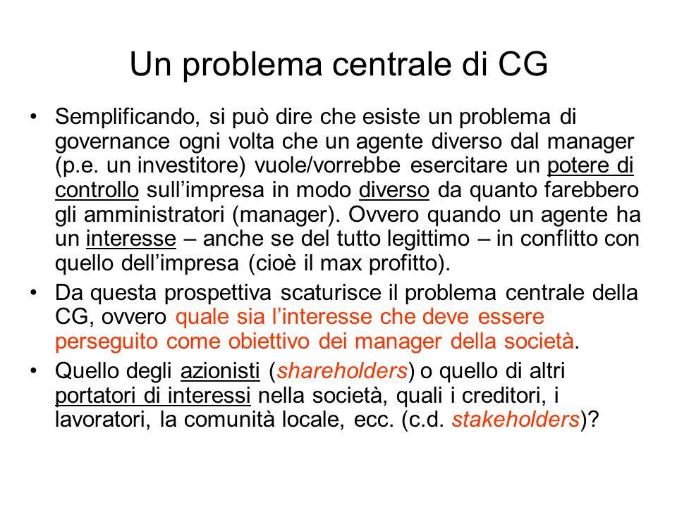Un problema centrale di CG