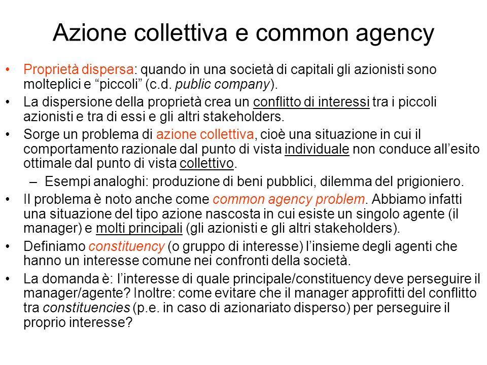 Azione collettiva e common agency