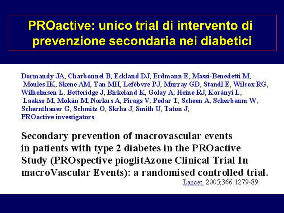 PROactive: unico trial di intervento di