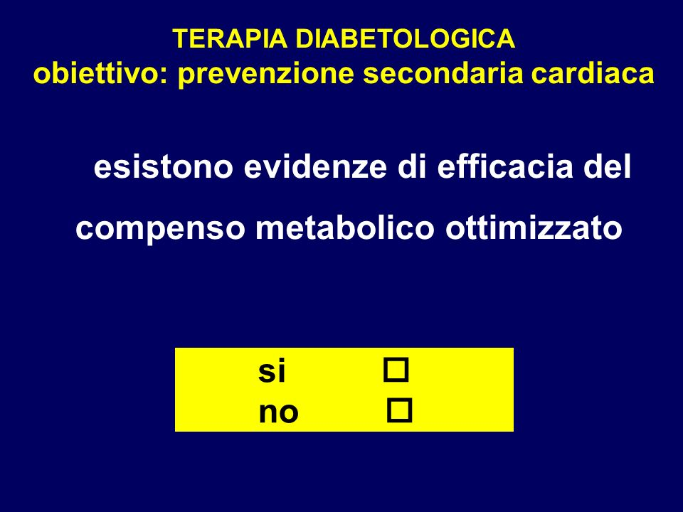 esistono evidenze di efficacia del compenso metabolico ottimizzato