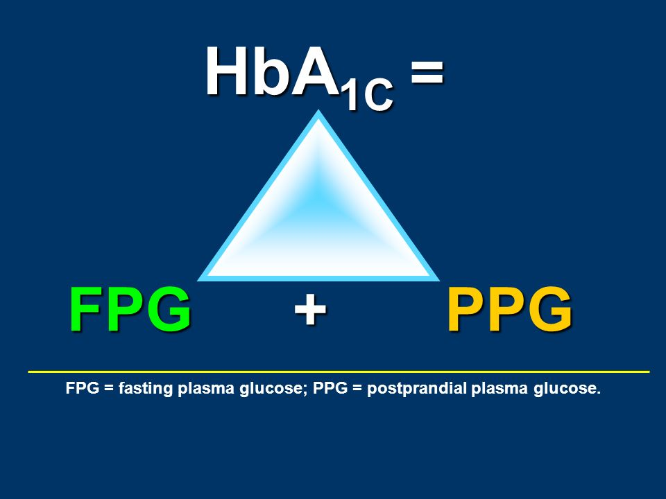 FPG = fasting plasma glucose; PPG = postprandial plasma glucose.