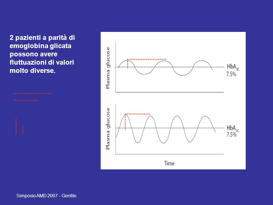 2 pazienti a parità di emoglobina glicata possono avere fluttuazioni di valori molto diverse.