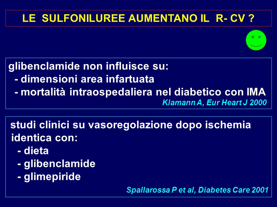 LE SULFONILUREE AUMENTANO IL R- CV