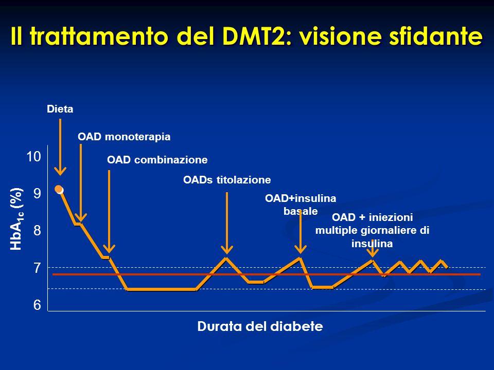 Il trattamento del DMT2: visione sfidante