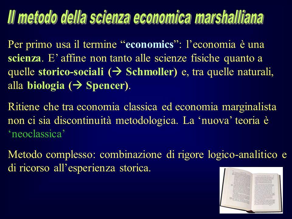 Il metodo della scienza economica marshalliana