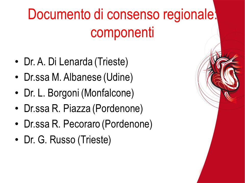 Documento di consenso regionale: componenti