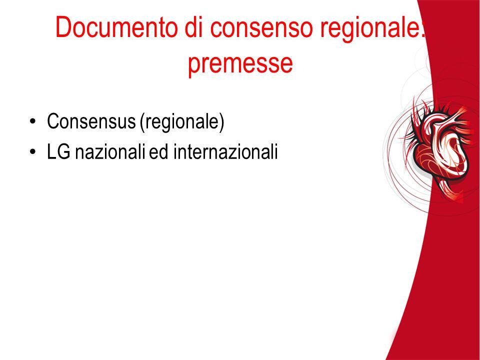 Documento di consenso regionale: premesse