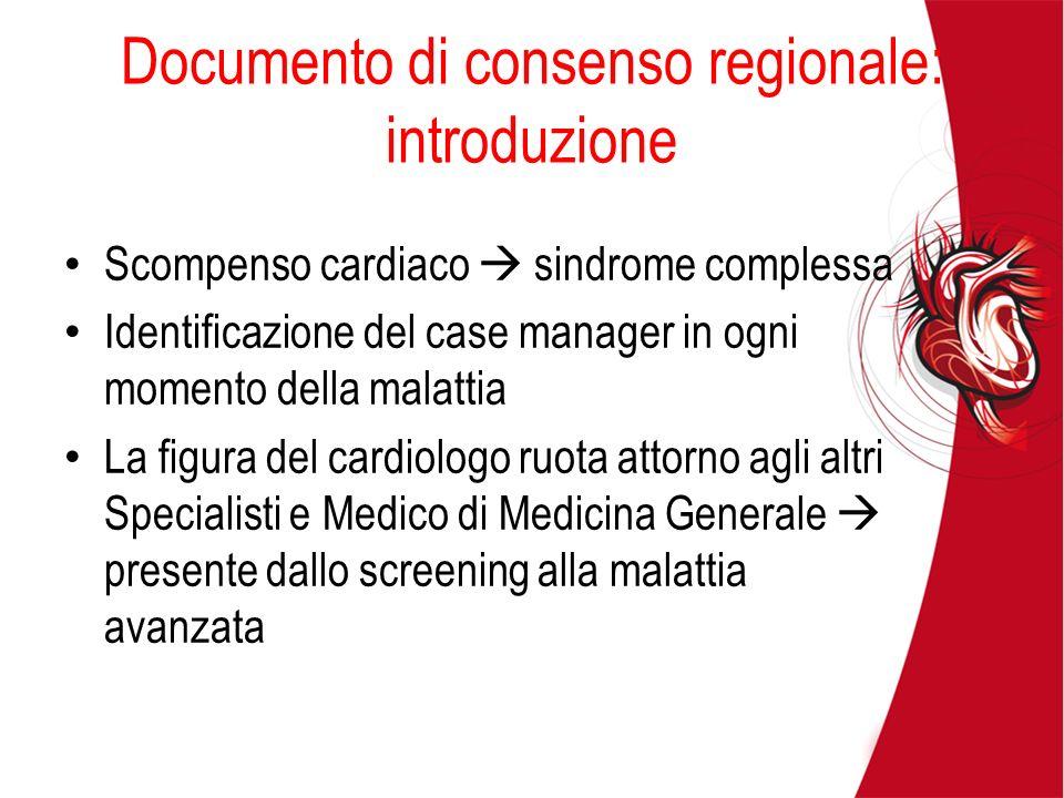 Documento di consenso regionale: introduzione
