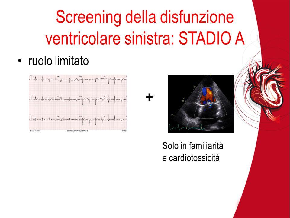 Screening della disfunzione ventricolare sinistra: STADIO A