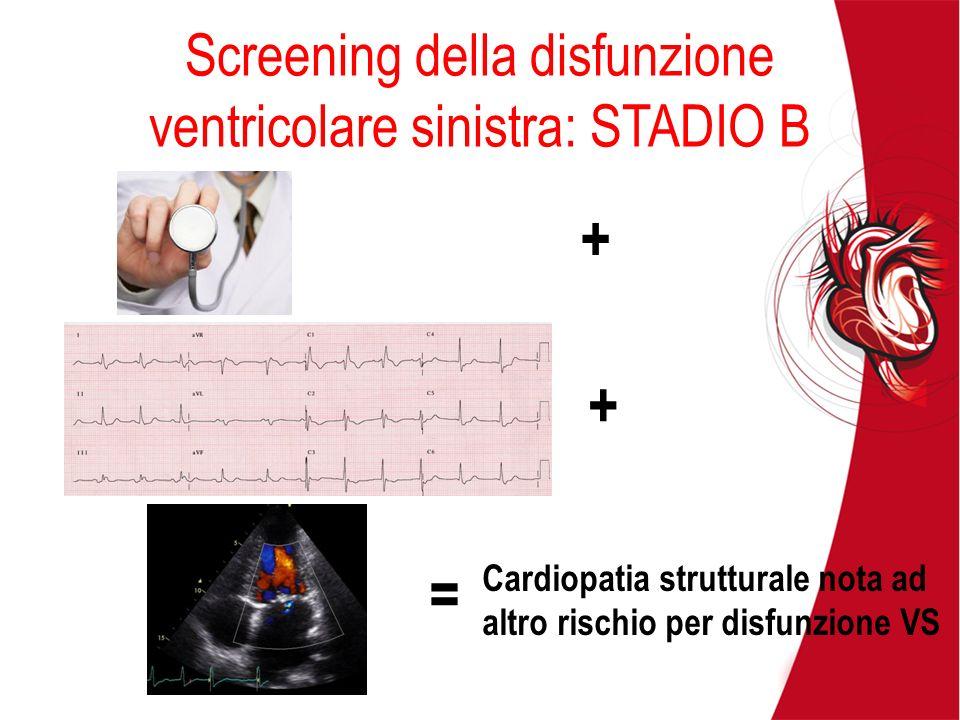 Screening della disfunzione ventricolare sinistra: STADIO B