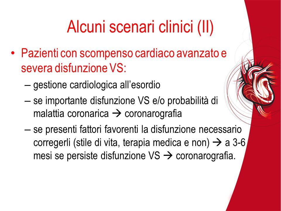 Alcuni scenari clinici (II)