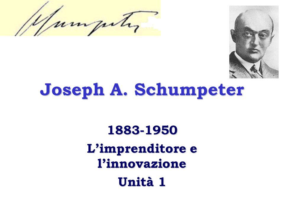 1883-1950 L'imprenditore e l'innovazione Unità 1