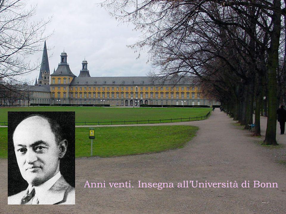 Anni venti. Insegna all'Università di Bonn