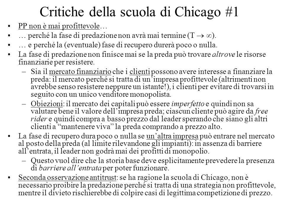 Critiche della scuola di Chicago #1