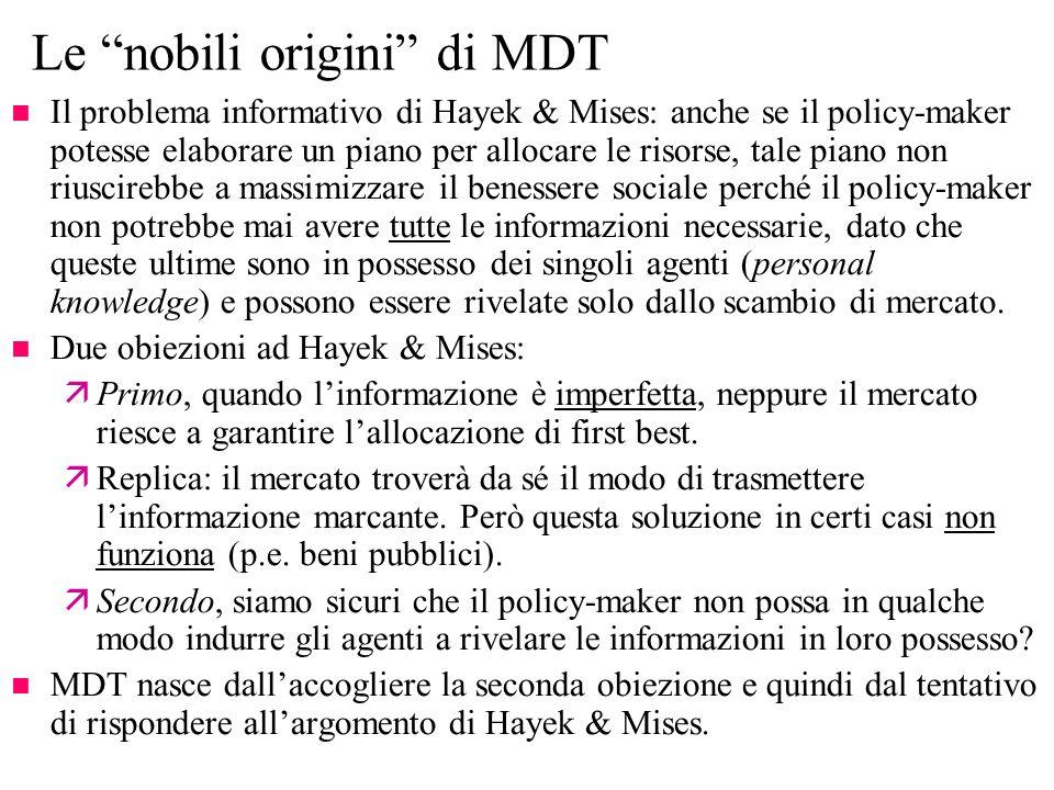 Le nobili origini di MDT