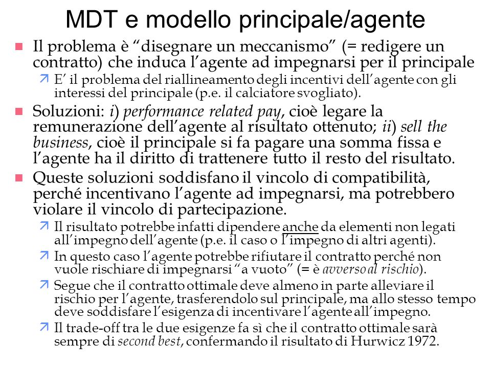 MDT e modello principale/agente
