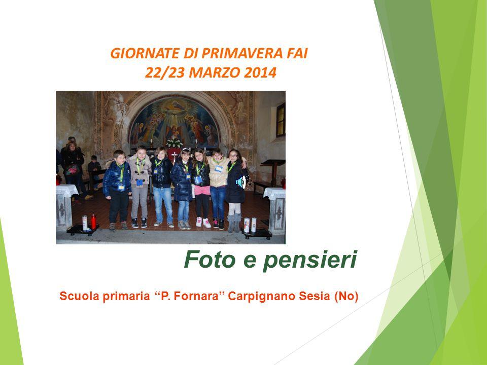GIORNATE DI PRIMAVERA FAI 22/23 MARZO 2014