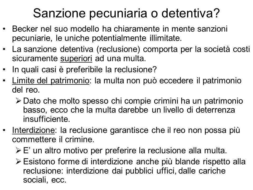 Sanzione pecuniaria o detentiva