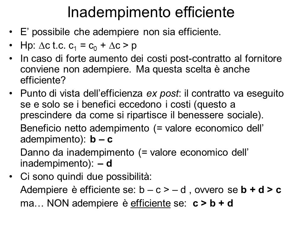 Inadempimento efficiente