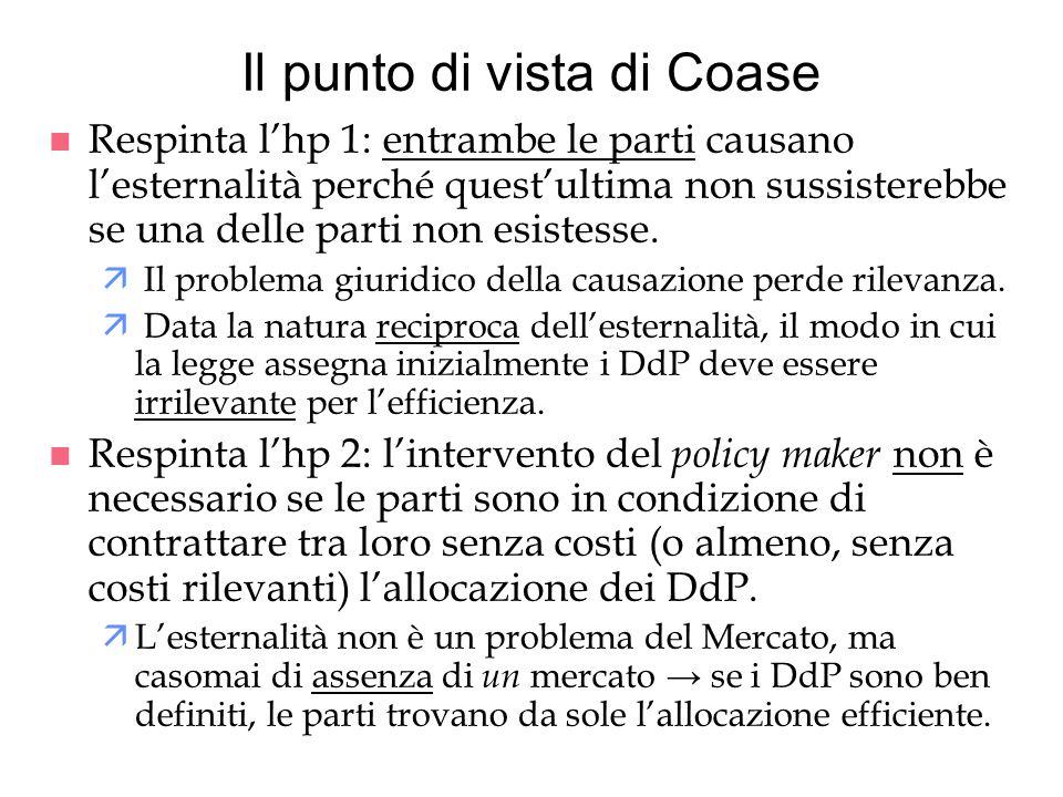 Il punto di vista di Coase