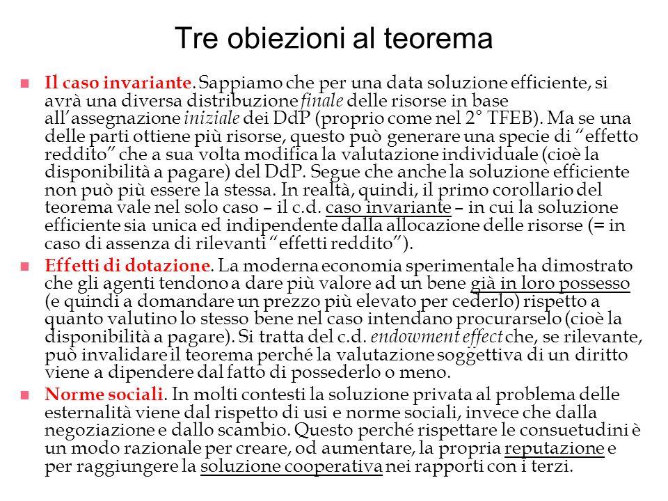 Tre obiezioni al teorema