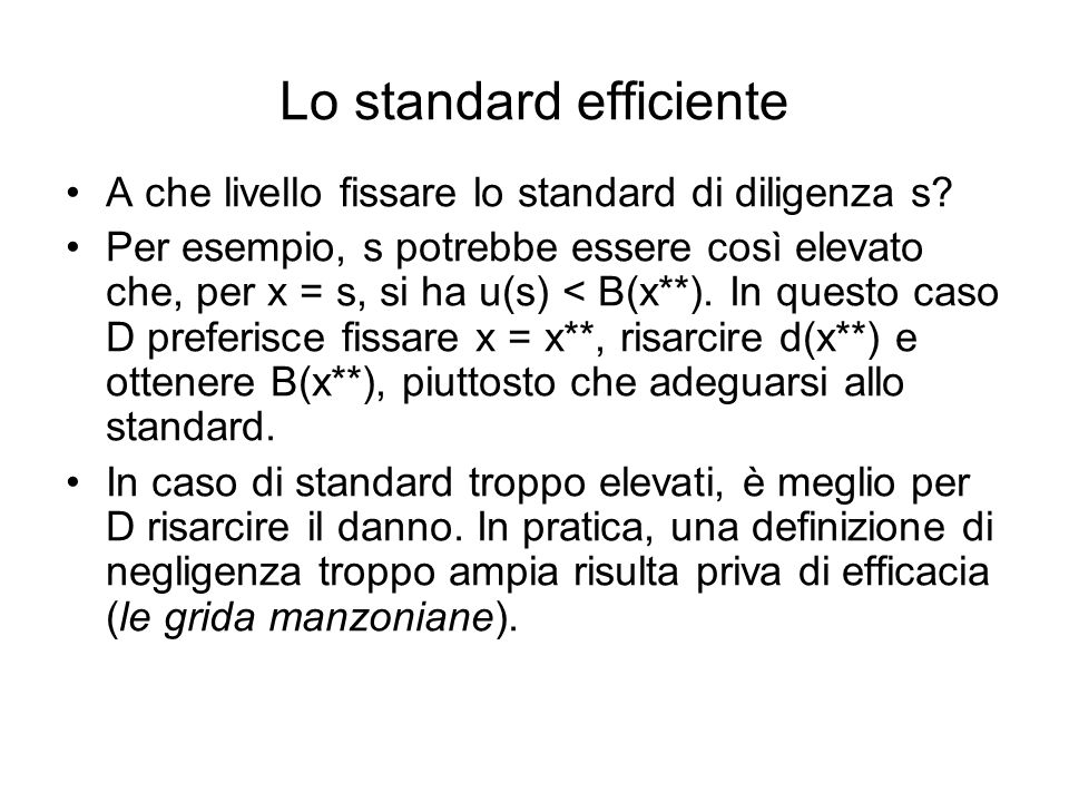 Lo standard efficiente