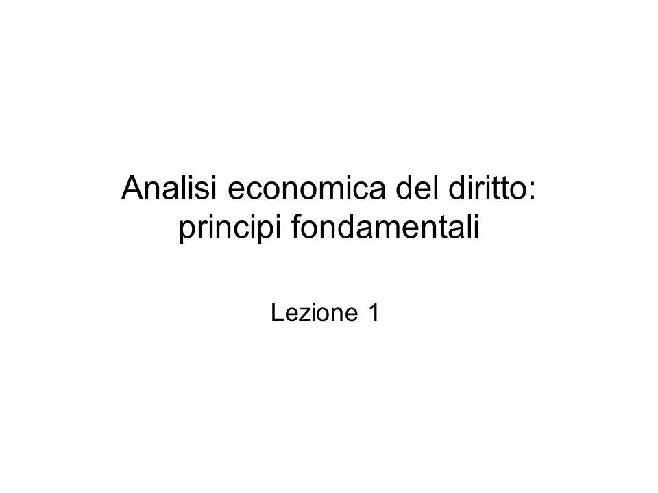 Analisi economica del diritto: principi fondamentali