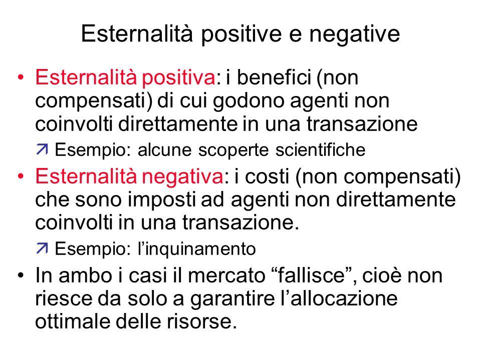Esternalità positive e negative