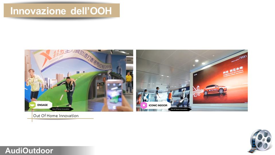 Innovazione dell'OOH Out Of Home Innovation