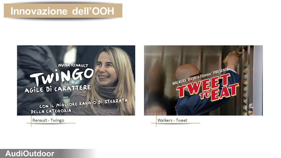Innovazione dell'OOH Renault - Twingo Walkers - Tweet