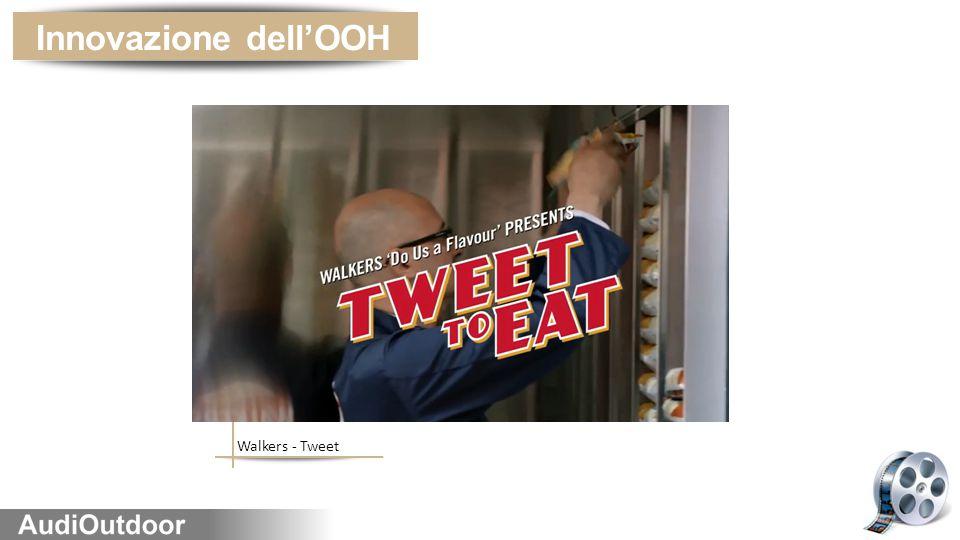 Innovazione dell'OOH Walkers - Tweet