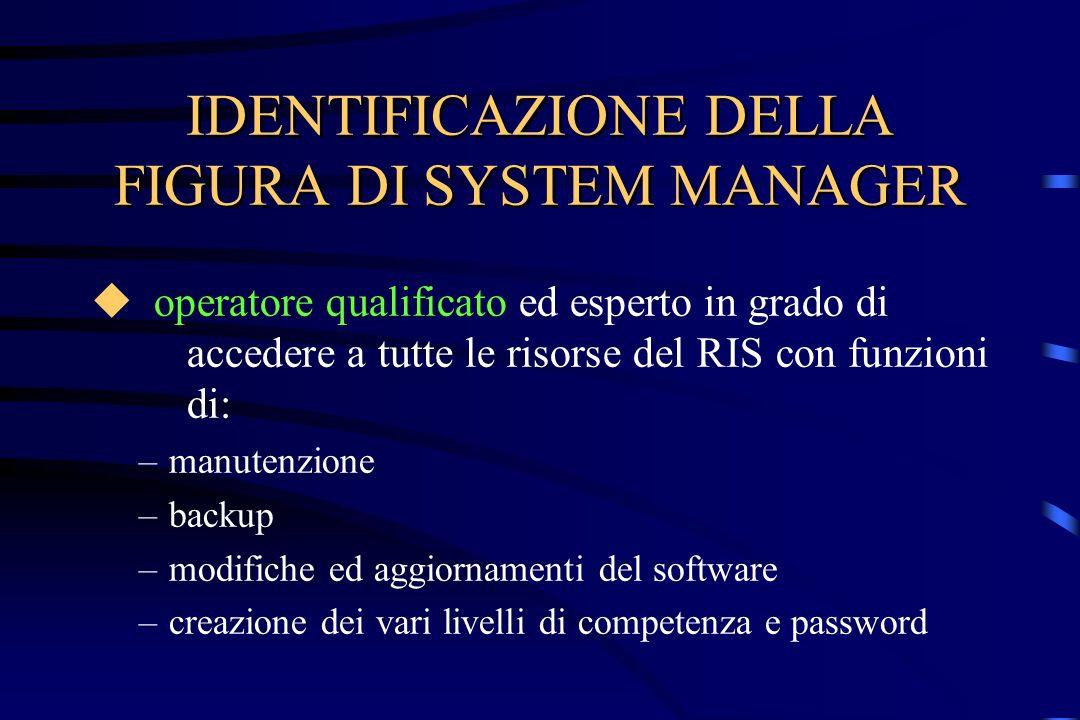 IDENTIFICAZIONE DELLA FIGURA DI SYSTEM MANAGER