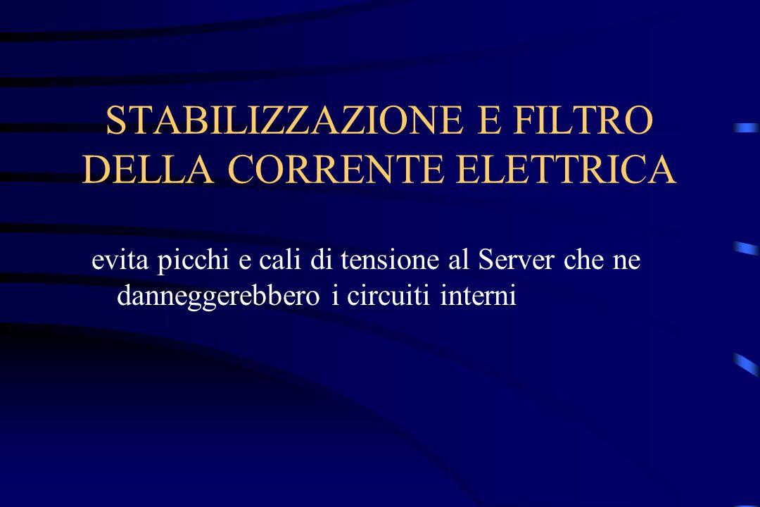 STABILIZZAZIONE E FILTRO DELLA CORRENTE ELETTRICA