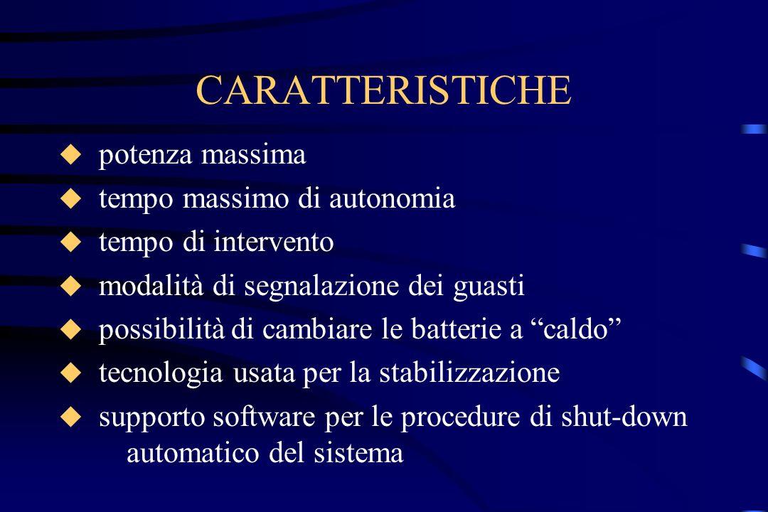 CARATTERISTICHE potenza massima tempo massimo di autonomia