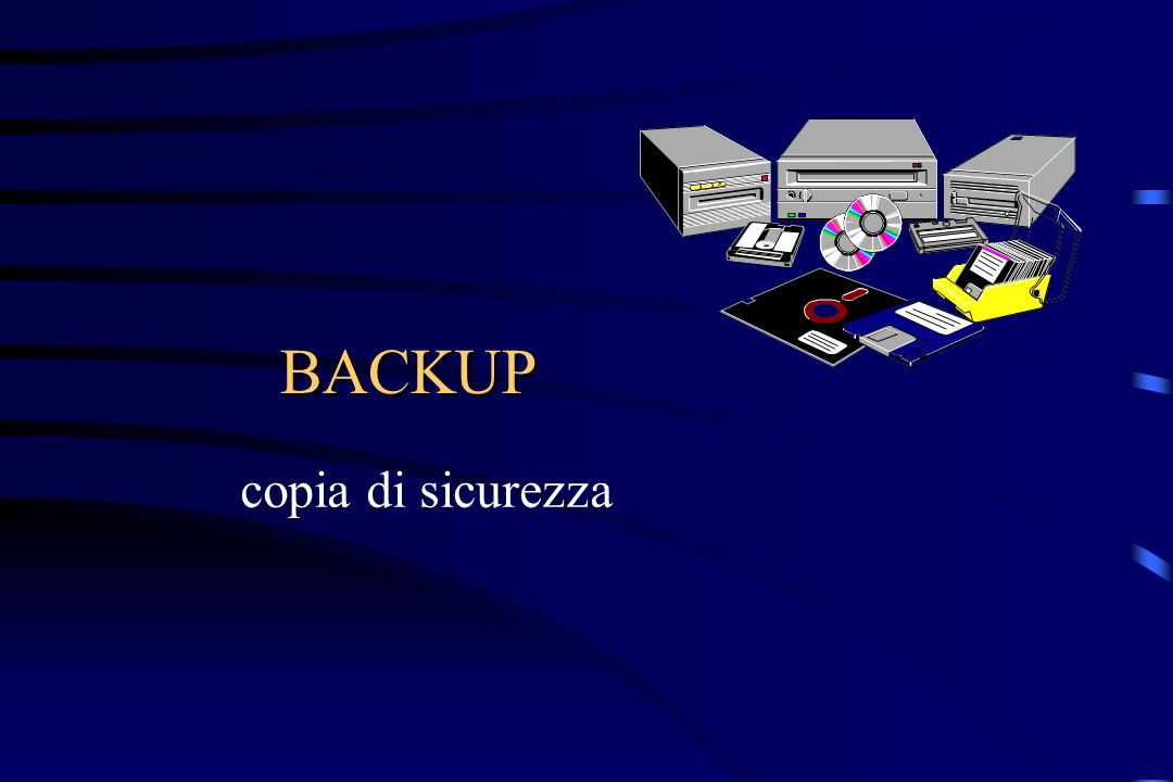 BACKUP copia di sicurezza