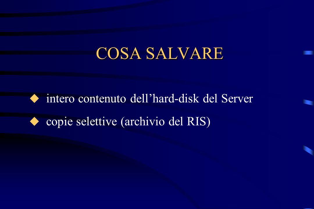 COSA SALVARE intero contenuto dell'hard-disk del Server