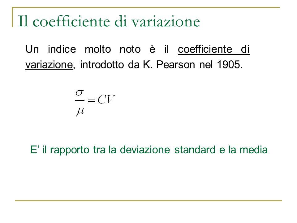Il coefficiente di variazione