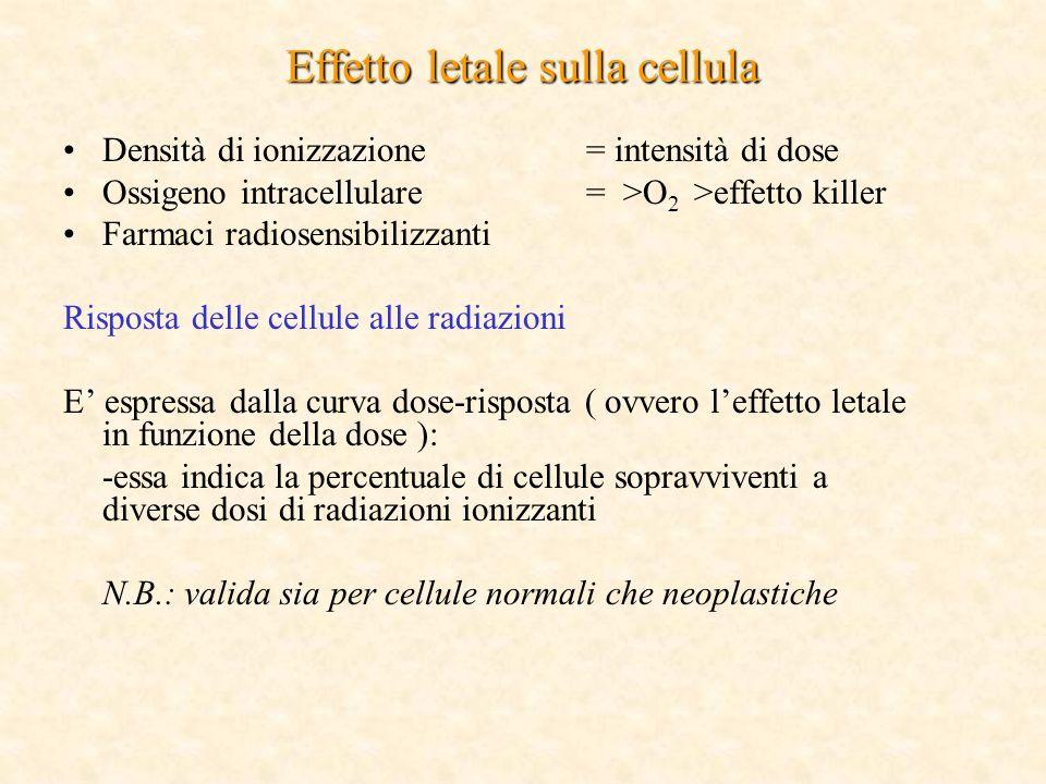 Effetto letale sulla cellula