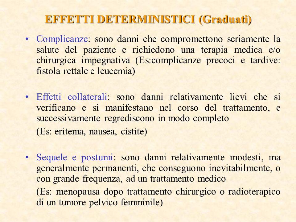 EFFETTI DETERMINISTICI (Graduati)